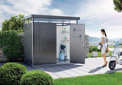 Biohort metalen tuinhuis als eyecatcher
